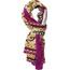 Sherpa Beyul sjaal Dames roze/bont
